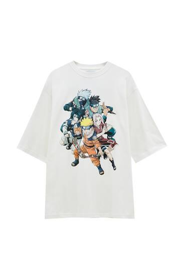 White Naruto character T-shirt