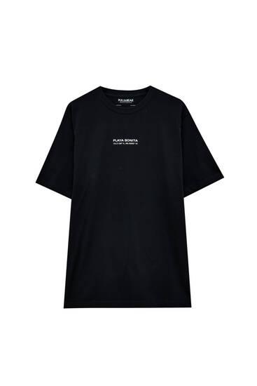 Beach slogan T-shirt