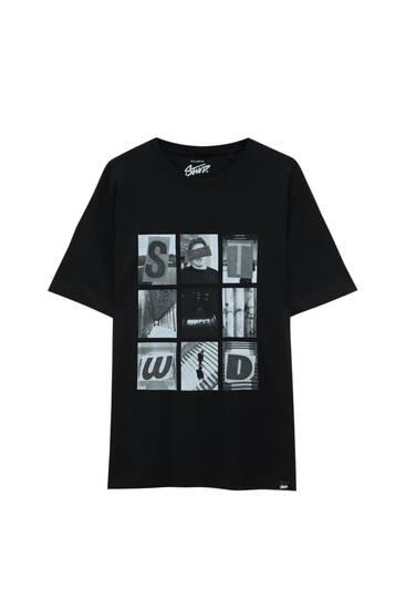 Black photograph STWD T-shirt