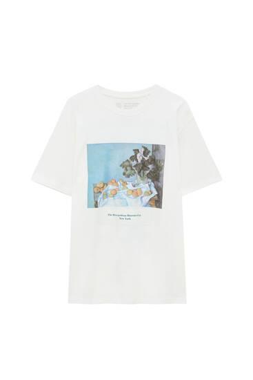Camiseta blanca obra Cézanne