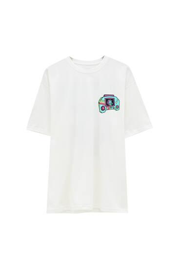 Bela majica Fortnite
