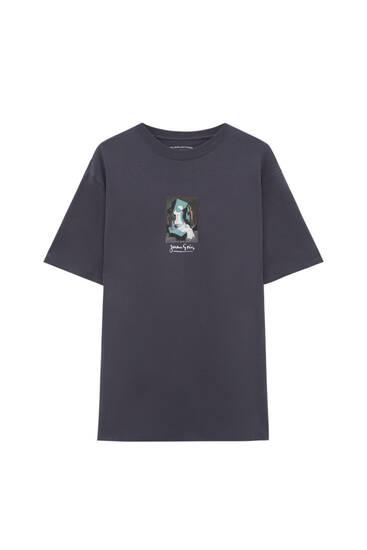 Camiseta negra obra Juan Gris