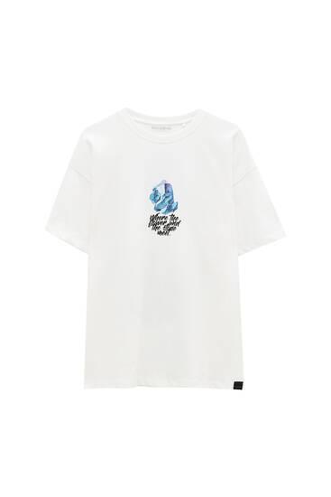 Біла футболка з написом