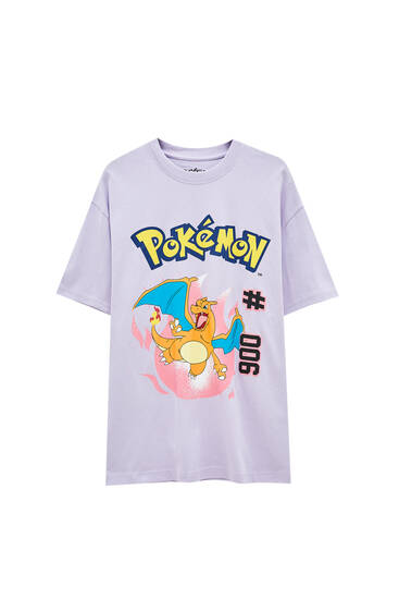 Lilac Pokémon Charizard T-shirt