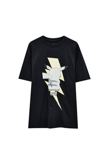 Black Pokémon Pikachu T-shirt