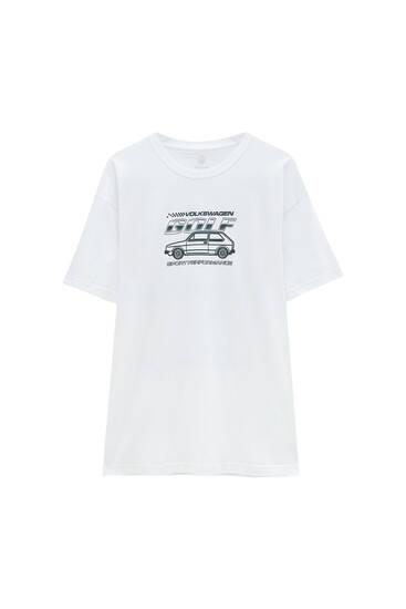 White Volkswagen Golf GTI T-shirt