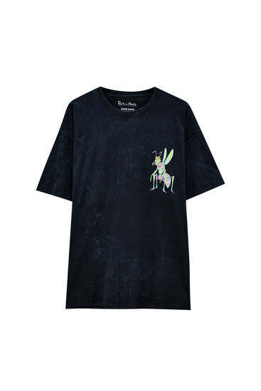 Black contrast Rick and Morty T-shirt