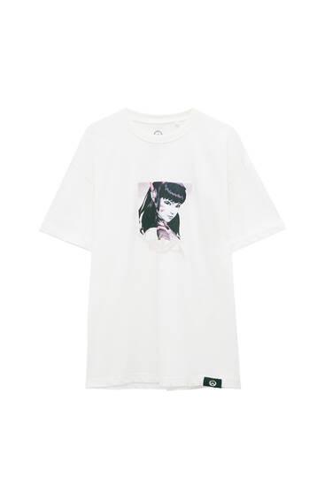 Біла футболка Overwatch «D.Va»