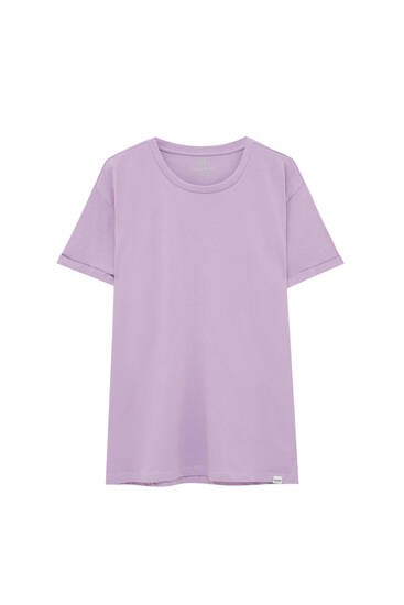 Basic coloured muscle-fit T-shirt