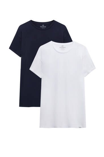 Pack of short sleeve muscle fit T-shirts