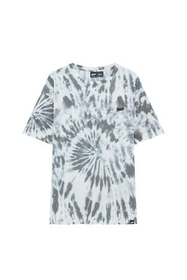 STWD T-shirt with tie-dye print