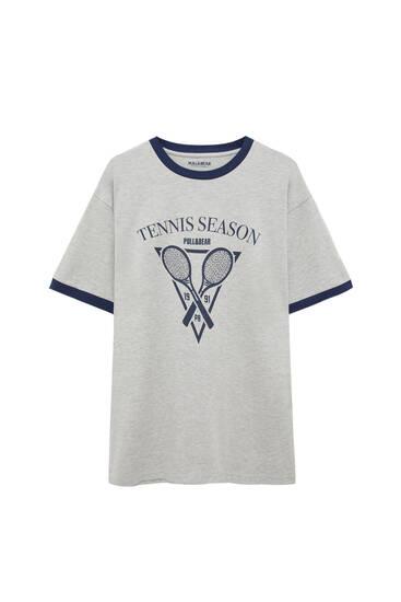 Graues Shirt Tennis Season