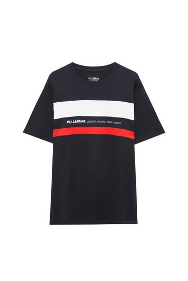 Shirt mit Colour-Blocks und Logo