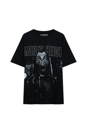 Schwarzes Shirt Haus des Geldes x Pull&Bear Money Heist