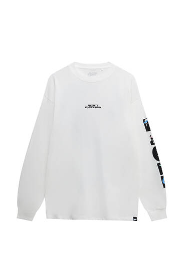 Μακρυμάνικη μπλούζα με λεπτομέρεια
