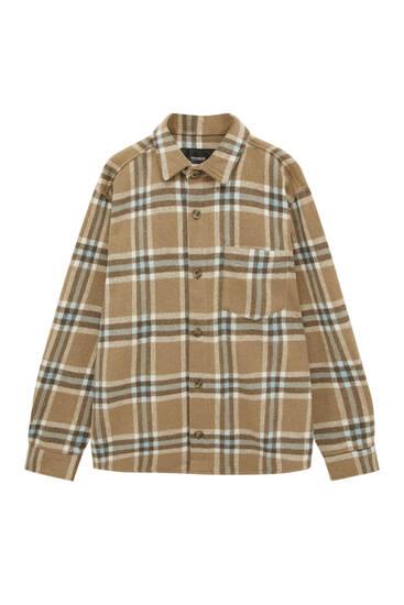Brown check overshirt