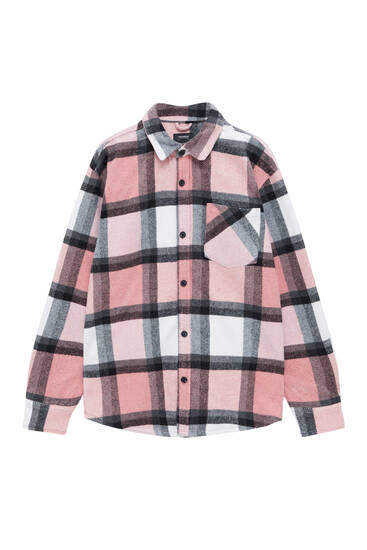 Checked basic flannel shirt