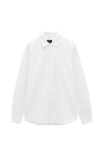 Cotton and linen basic shirt