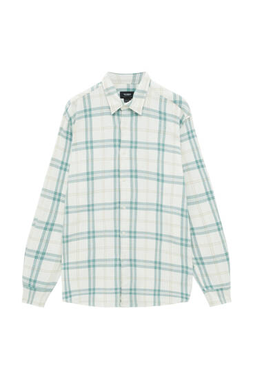 Checked shirt in pastel tones
