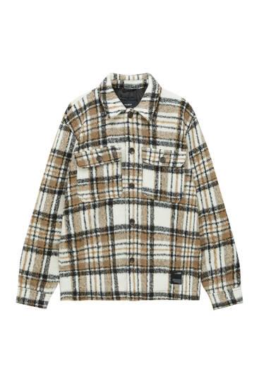 Black check overshirt