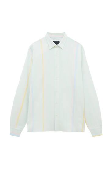Košulja sa kontrastnim pastelnim prugama
