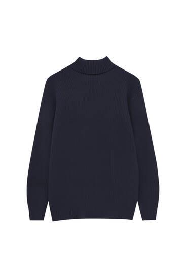 Basic high collar knit sweater