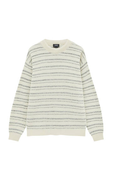 Striped nautical knit sweater