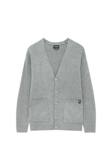 Basic knit cardigan with pockets