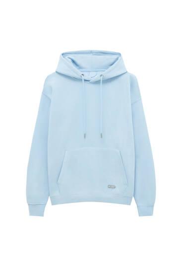 Sweatshirt básica com capuz comfort fit
