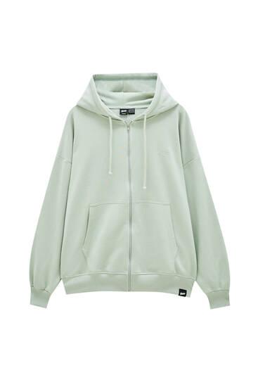 Aquamarine oversize hoodie