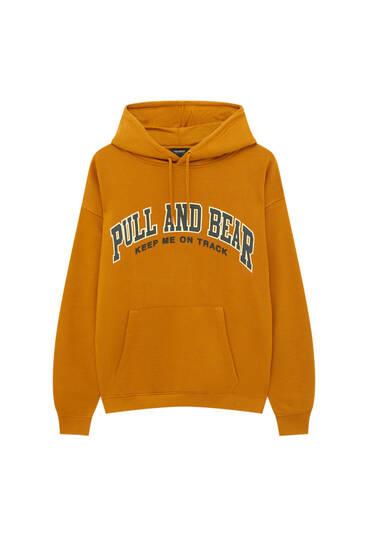 Basic-Sweatshirt mit Kapuze und Logo vorne