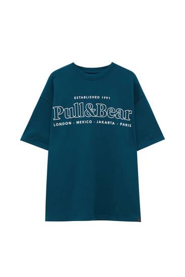 Plüsch-Shirt mit Logo
