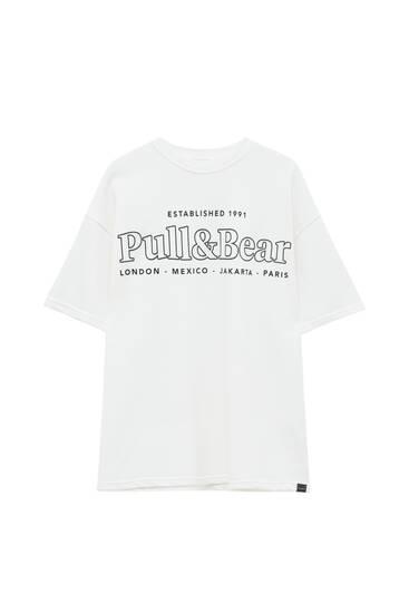 Plush T-shirt with logo