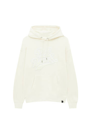 Hoodie with terry logo