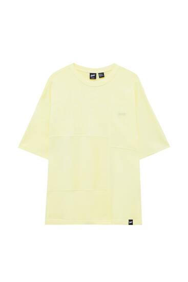 Plush T-shirt with panels