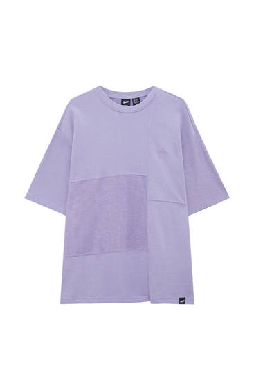 Camiseta felpa paneles