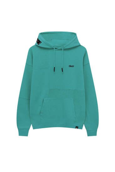 Premium fabric panelled hoodie