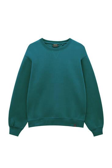Basic round neck colourful sweatshirt