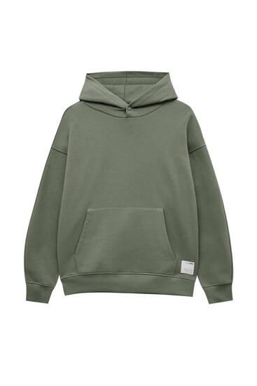 Basic-Oversize-Hoodie mit Kapuze