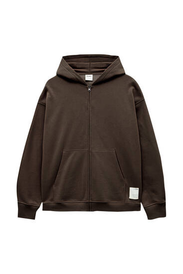 Oversize hoodie with zip