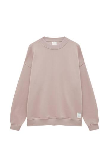 Round neck oversize sweatshirt