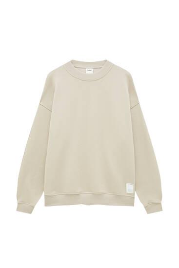 Oversize-Sweatshirt mit Rundausschnitt