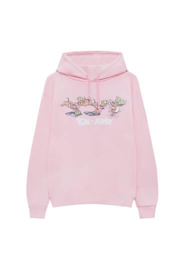 Pink Tom & Jerry hoodie