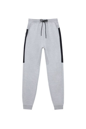 Joggers with contrast panels