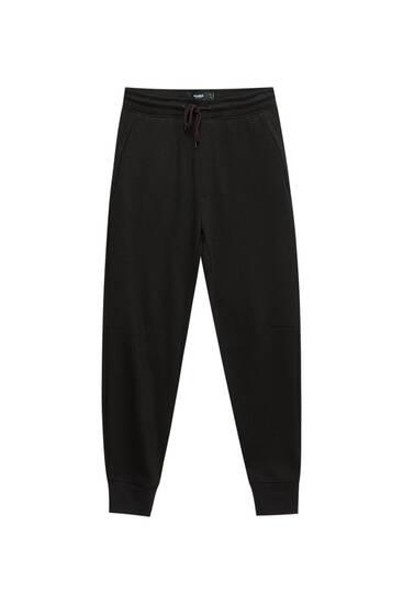 Pantalón jogger básico tejido piqué