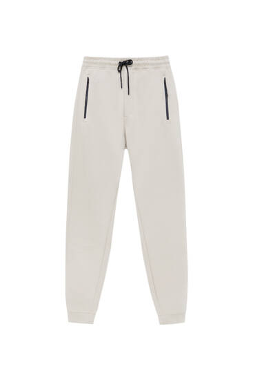 Joggers with contrast details