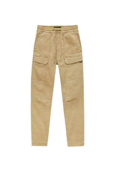 Soft-knit cargo trousers