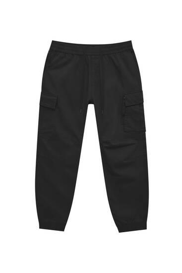 Premium fabric cargo joggers