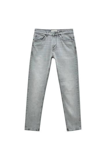 Hellgraue Jeans im Slim-Comfort-Fit