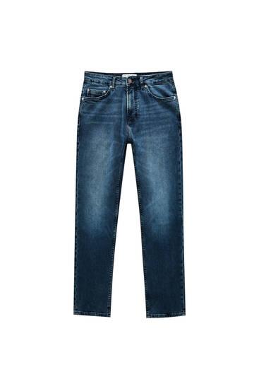 Dunkelblaue Slim-Comfort-Jeans